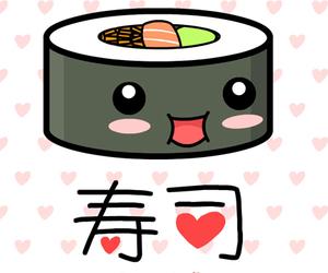 sushi, kawaii, and food image