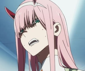 anime, darling in the franxx, and zero two image
