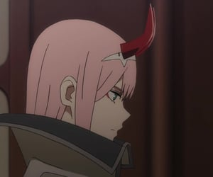 zero two, anime, and darling in the franxx image