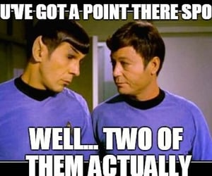 gold, spock, and star trek image