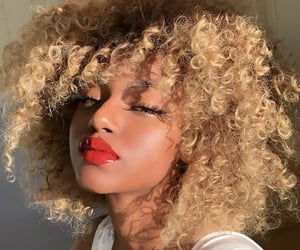 black woman, blond, and blond hair image
