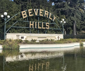 Beverly Hills, fountain, and usa image