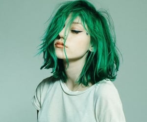 green, hair, and indie image