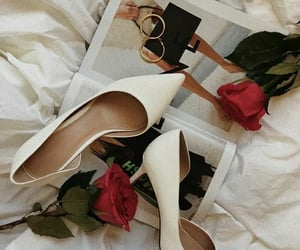 fashion, flowers, and high heels image