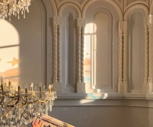 architecture, chandelier, and luxe image