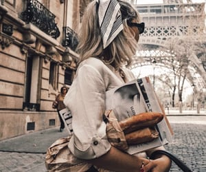 fashion, france, and girl image