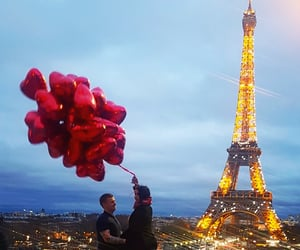 couple, french, and ballons image
