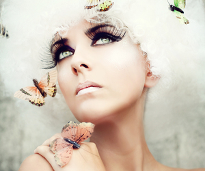 beauty, butterfly, and deviant art image
