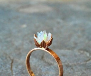 fashion, ring, and flower image