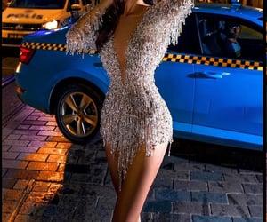 cocktail dress, diamonds, and fashion image