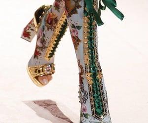 runway, fashion, and gold image