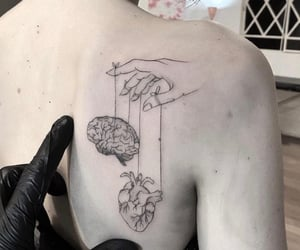back, Tattoos, and black image