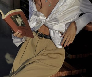 books, chic, and fashion image