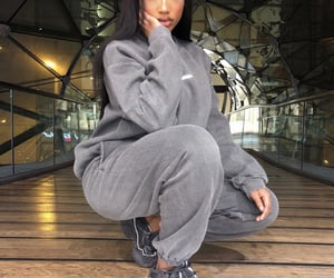 grey, outfit, and fashion image