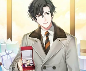 gift, mystic messenger, and Valentine's Day image