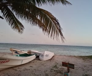 beach, boats, and mexico image