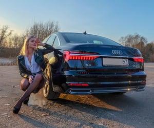 audi, car, and blonde image