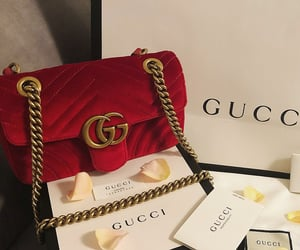 gucci, fashion, and red image
