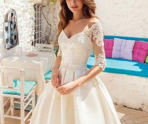 dress, fashion, and marriage image