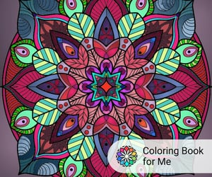 draw, coloring book for me, and mandala image