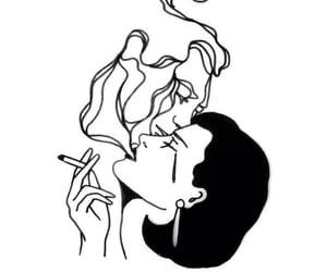 smoke, art, and sad image