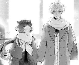 aesthetic, manga boy, and black and white image