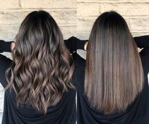 Mechas, cabelos castanhos, and cabelos escuros image
