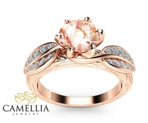 etsy, morganitering, and rose gold ring image