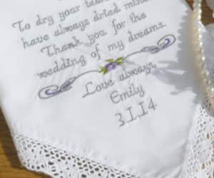 etsy, mother of the bride, and embroidered hanky image