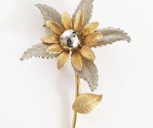 brooch, flower pin, and vintagejewelry image