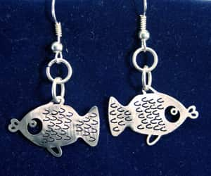 charm, earrings, and fish image