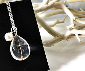 dandelion, pendant, and necklace image