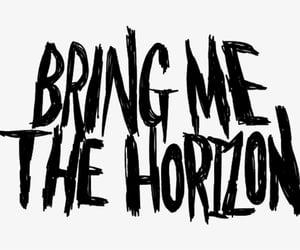 band logo, bmth, and bring me the horizon image