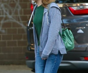 actress, casual, and green image