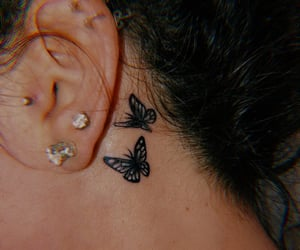 tattoo and butterflies image