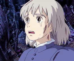 anime, howl's moving castle, and cry image