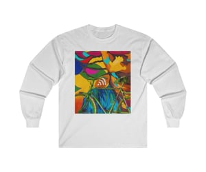 abstract art, long sleeve, and crew neck image