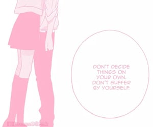 anime, pink, and love image
