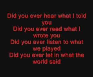 band, hate, and Lyrics image