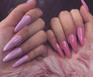 beauty, pink nails, and trendy image