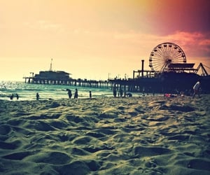 beach, california, and festival image