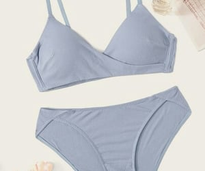 bra, grey, and panties image