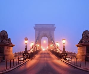 beautiful, bridge, and budapest image