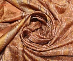 recycled fabric, silk sari, and pure silk sari image