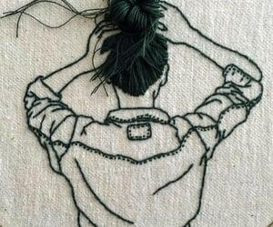 art, beautiful, and sewing image
