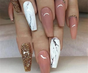 nails, glitter, and marble image
