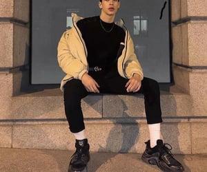 black pants, fashion, and men's fashion image