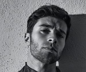 black and white, handsome, and men image