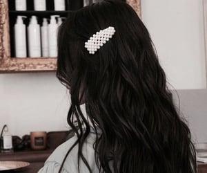 black hair, brunette, and dark hair image