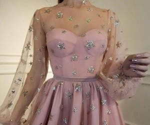 dress, pink, and stars image